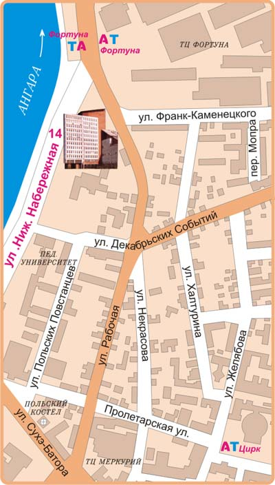 Карта садоводств ангарского района