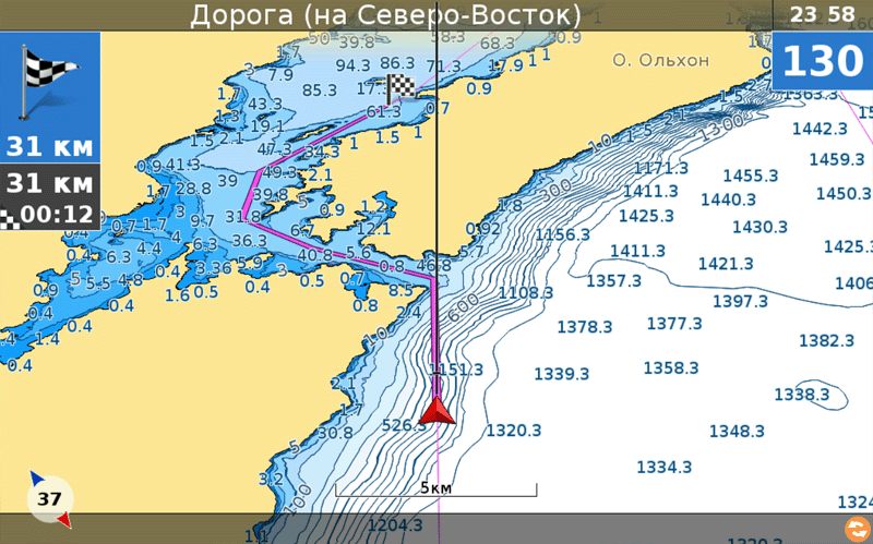лоцманская карта усть-илимского водохранилища